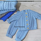 Работы для детей, handmade. Livemaster - original item costume Mod for boy sweater pants. Handmade.