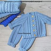 Работы для детей, ручной работы. Ярмарка Мастеров - ручная работа костюм Модник для мальчика свитер штанишки. Handmade.