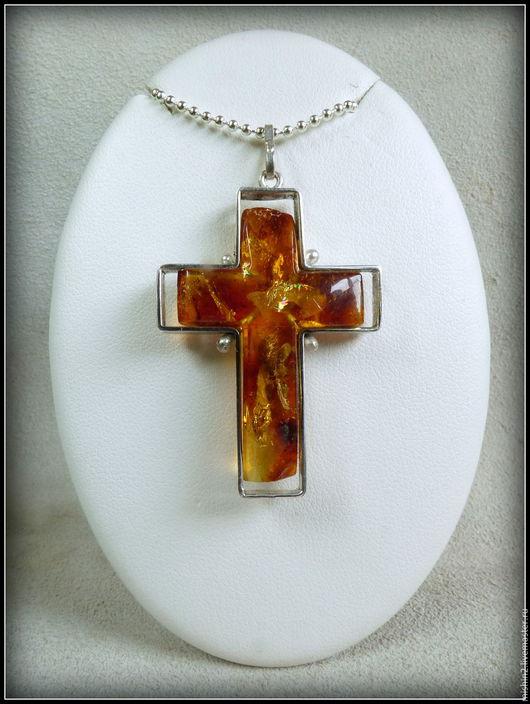 """Кулоны, подвески ручной работы. Ярмарка Мастеров - ручная работа. Купить кулон """"Крест"""". Handmade. Кулон, для мужчин, мельхиор"""