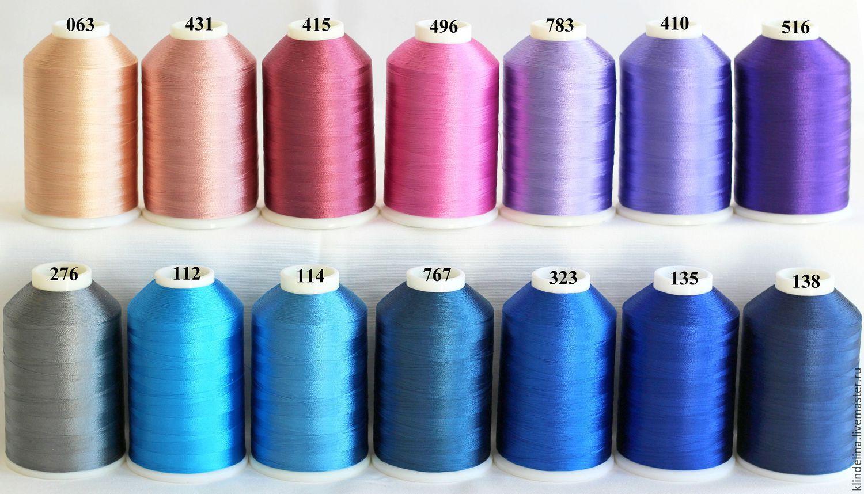 Вискозные нитки для вышивки