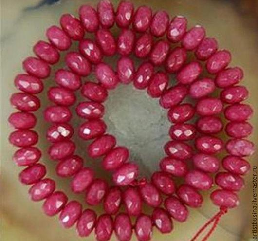 Для украшений ручной работы. Ярмарка Мастеров - ручная работа. Купить рубин бусина-рондель 8мм. Handmade. Бордовый