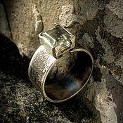 Украшения ручной работы. Ярмарка Мастеров - ручная работа Серебряное кольцо с зеленым аметистом. Handmade.