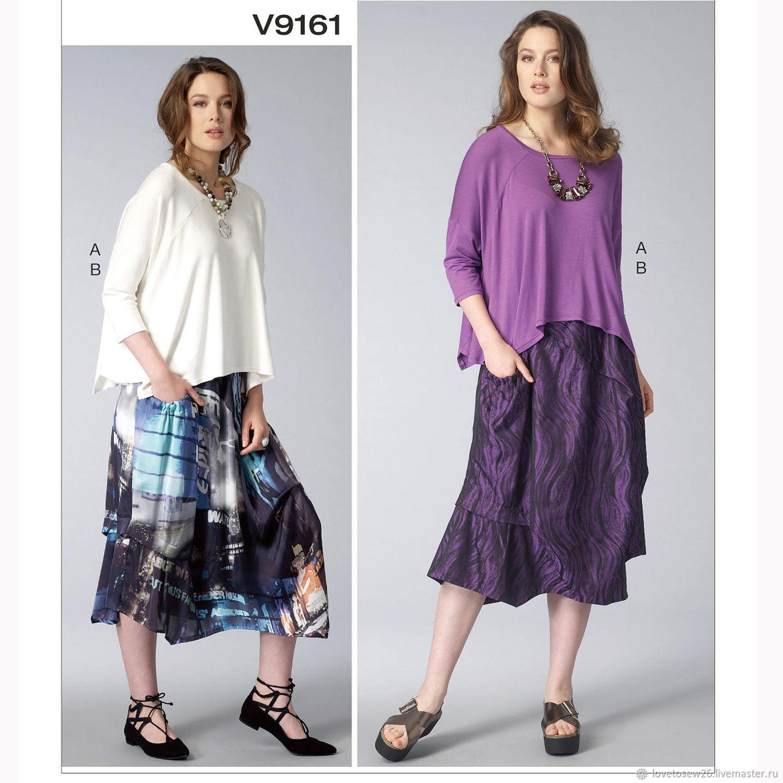 V9161 Выкройка неординарной юбки и топа дизайнера Marcy Tilton Vogue, Выкройки для шитья, Санкт-Петербург,  Фото №1