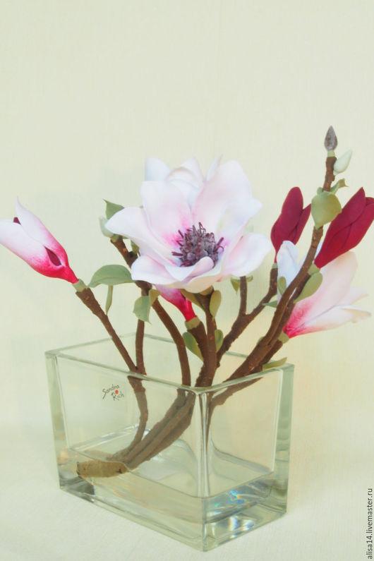 Цветы ручной работы. Ярмарка Мастеров - ручная работа. Купить Магнолия. Handmade. Оригинальный подарок