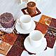 Текстиль, ковры ручной работы. Ярмарка Мастеров - ручная работа. Купить Минутка кофе (декоративная салфетка на стол). Handmade. Кофе