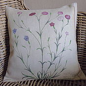 Для дома и интерьера handmade. Livemaster - original item Carnation decorative Pillow in vintage style, country. Handmade.