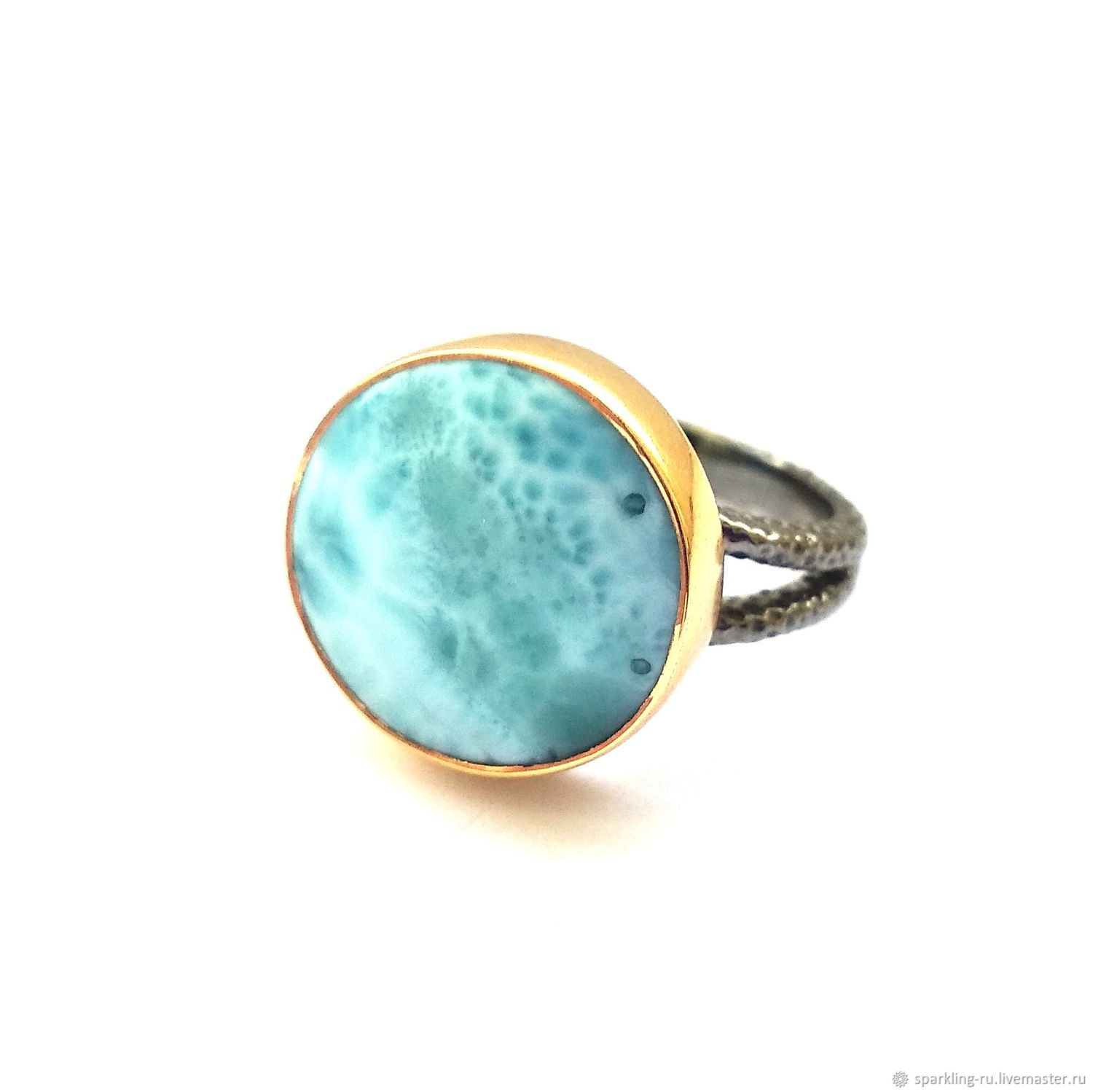 Sold. Silver ring with larimar, p. .16,5,, Rings, Moscow,  Фото №1