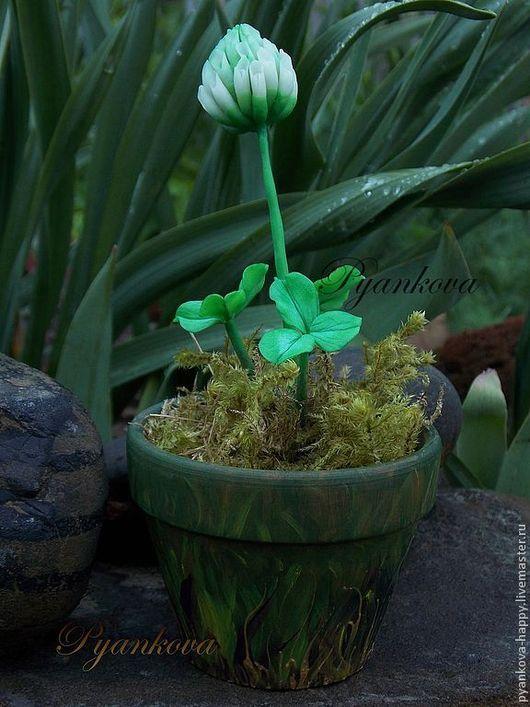 """Искусственные растения ручной работы. Ярмарка Мастеров - ручная работа. Купить """"Белый клевер"""". Handmade. Мятный, цветы ручной работы"""