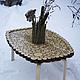 Мебель ручной работы. Ярмарка Мастеров - ручная работа. Купить Кофейный столик из деревянных спилов. Handmade. Бежевый, кофейный столик