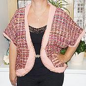 Одежда ручной работы. Ярмарка Мастеров - ручная работа Жакет-болеро из костюмной ткани букле. Handmade.