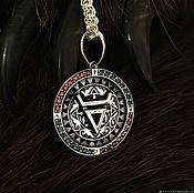 Русский стиль handmade. Livemaster - original item Symbol of Veles in the runes. Handmade.