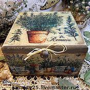 """Для дома и интерьера ручной работы. Ярмарка Мастеров - ручная работа """"Прованские травы""""Короб. Handmade."""