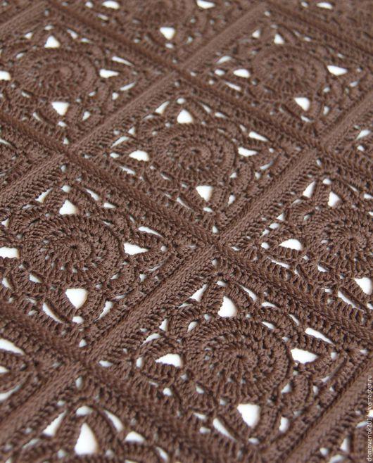 Текстиль, ковры ручной работы. Ярмарка Мастеров - ручная работа. Купить Плед (покрывало)  Шоколад. Handmade. Подарок, скатерть