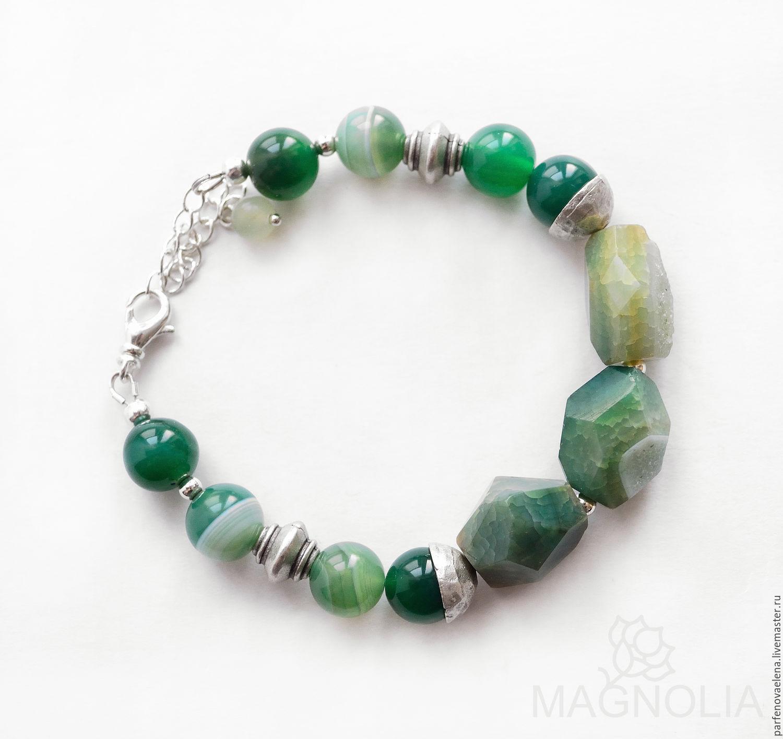 Bracelets handmade. Livemaster - handmade. Buy Bracelet 'In the silent forest'.Bracelet, jewelry set, bracelet and necklace