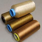 Материалы для творчества handmade. Livemaster - original item 100% SILK mix colors gold 600m/100g. Handmade.