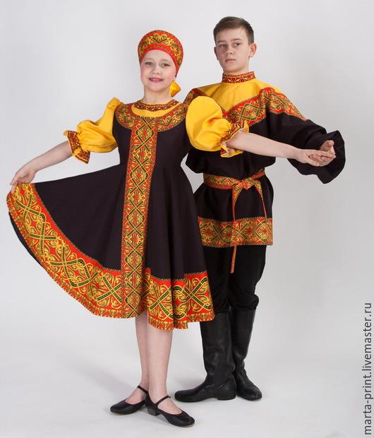русский народный костюм, сарафан, танцевальный костюм, народные танцы, Russian Dance
