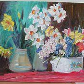 """Картины и панно ручной работы. Ярмарка Мастеров - ручная работа Картина маслом """" Весенний бал цветов"""". Handmade."""