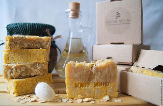 Мыло ручной работы. Ярмарка Мастеров - ручная работа. Купить Овсяное мыло с медом (ручная работа, натуральные компоненты). Handmade.