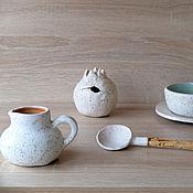 """Посуда ручной работы. Ярмарка Мастеров - ручная работа набор посуды """"Молоко"""". Handmade."""