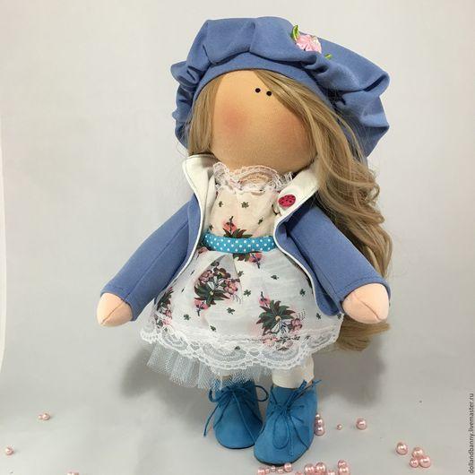 Куклы тыквоголовки ручной работы. Ярмарка Мастеров - ручная работа. Купить Интерьерная текстильная Кукла. Handmade. Васильковый, кукла в подарок