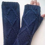 Аксессуары handmade. Livemaster - original item Flamingo mitts, blue. Handmade.