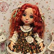 Куклы и игрушки handmade. Livemaster - original item Doll Seraphim textile interior with an oversized face. Handmade.