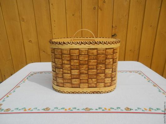 """Кухня ручной работы. Ярмарка Мастеров - ручная работа. Купить Хлебница """"Плетенка"""". Handmade. Хлеб, береста, берестяной, хлебница плетеная"""