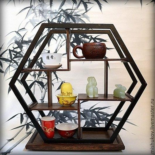 Мебель ручной работы. Ярмарка Мастеров - ручная работа. Купить Полка-этажерка в китайском стиле. Handmade. Мебель из дерева, китай