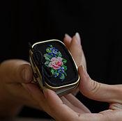Для дома и интерьера handmade. Livemaster - original item Pill box (small box) with embroidery. Handmade.