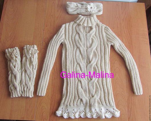 Одежда для девочек, ручной работы. Ярмарка Мастеров - ручная работа. Купить Комплект для юной модницы. Handmade. Комплект, теплый комплект