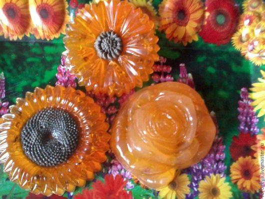 """Мыло ручной работы. Ярмарка Мастеров - ручная работа. Купить Антибактериальное мыло ручной работы  с календулой """"Янтарное"""". Handmade. Оранжевый"""