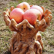 """Для дома и интерьера ручной работы. Ярмарка Мастеров - ручная работа Чаша для фруктов """"Резная"""". Handmade."""