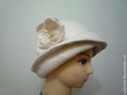 Шляпы ручной работы. Ярмарка Мастеров - ручная работа. Купить шляпка. Handmade. Белый, шляпка с декором, вискоза-волокна