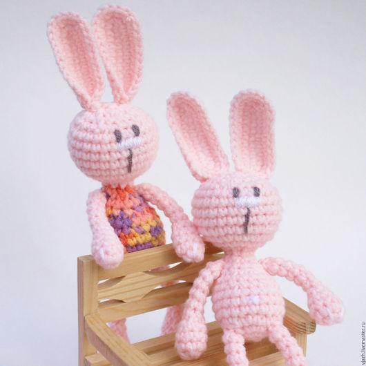 Игрушки животные, ручной работы. Ярмарка Мастеров - ручная работа. Купить Зайка Розовый. Handmade. Заяц, игрушка, подарок девочке