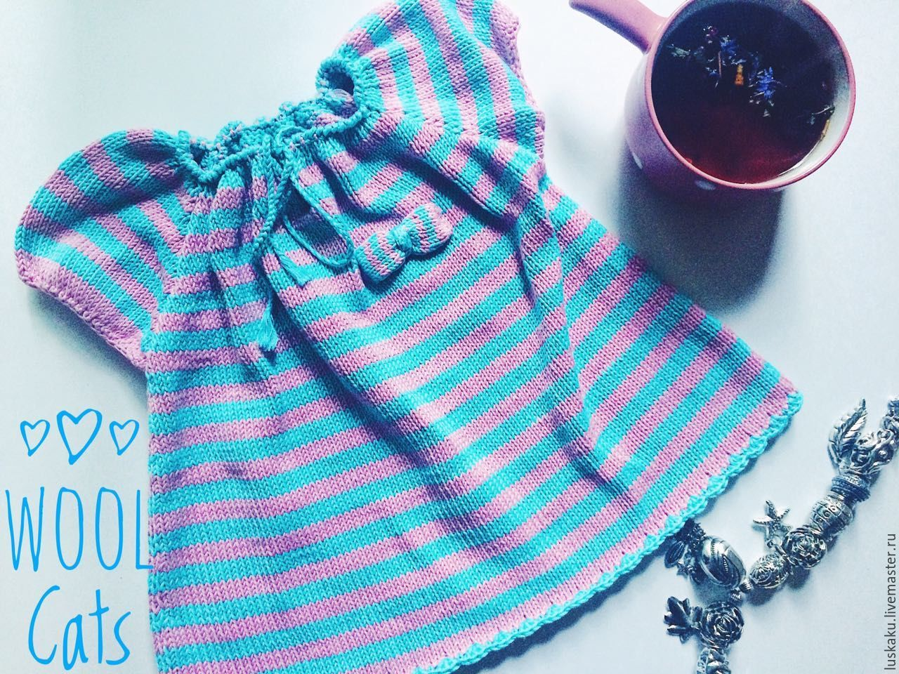 Cotton dress, striped with bows spokes, Dresses, Moscow,  Фото №1