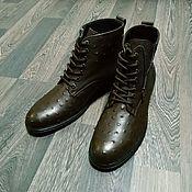 Обувь ручной работы handmade. Livemaster - original item Men`s shoes made of genuine ostrich leather, custom made!. Handmade.
