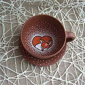 Посуда ручной работы. Ярмарка Мастеров - ручная работа Чашка с лисёнком. Handmade.