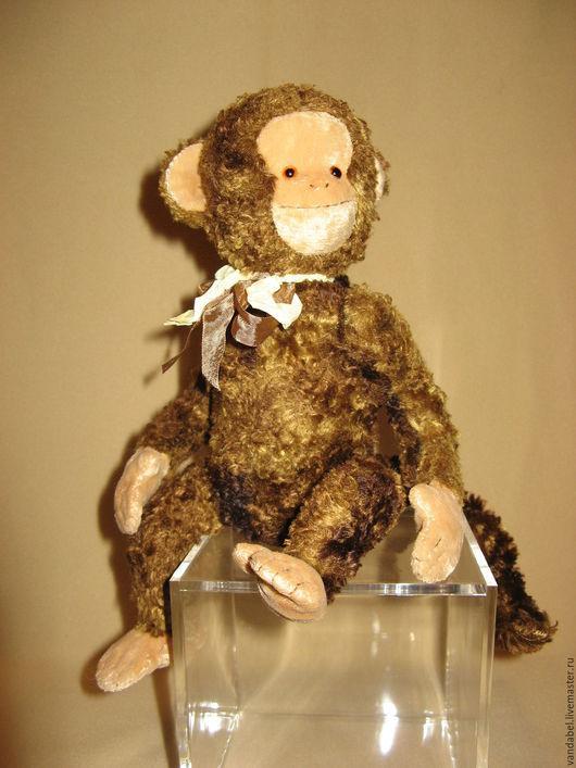 Мишки Тедди ручной работы. Ярмарка Мастеров - ручная работа. Купить Обезьянка-тедди. Handmade. Коричневый, винтаж, плюш, шплинты