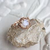 Rings handmade. Livemaster - original item Gold ring with white moonstone