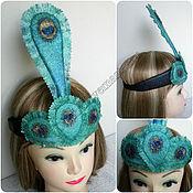 Украшения handmade. Livemaster - original item Peacock Christmas decoration for the hair on the crown of a peacock feather. Handmade.