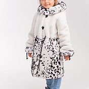 Работы для детей, handmade. Livemaster - original item White Mouton coat for girls. Handmade.