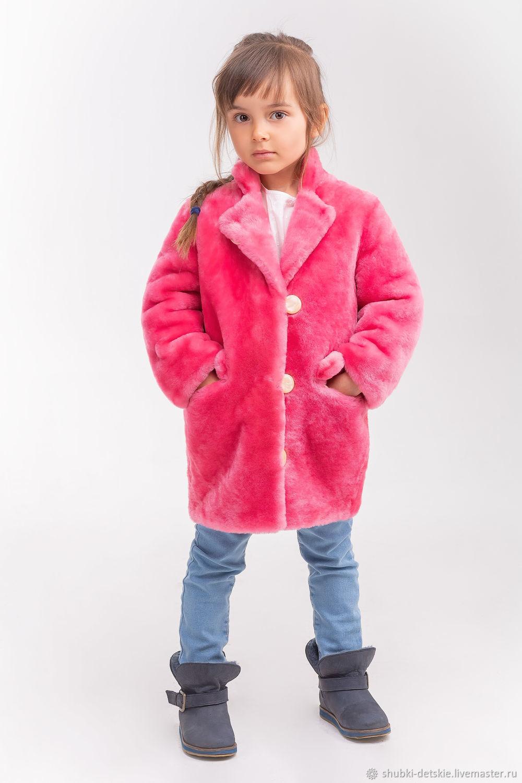 Одежда для девочек, ручной работы. Ярмарка Мастеров - ручная работа. Купить Розовое меховое пальто для девочки. Handmade. Шуба, оверсайз