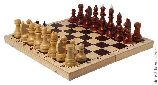 Настольные игры ручной работы. Ярмарка Мастеров - ручная работа. Купить Шахматы Гроссмейстерские (утяжелённые) (6041). Handmade. Чёрно-белый