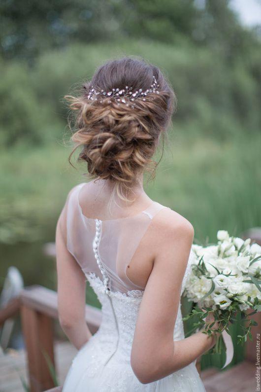 Свадебные украшения ручной работы. Ярмарка Мастеров - ручная работа. Купить На заказ! Свадебное украшение для волос. Handmade. для невесты