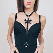 Аксессуары handmade. Livemaster - original item Harness leather ladies
