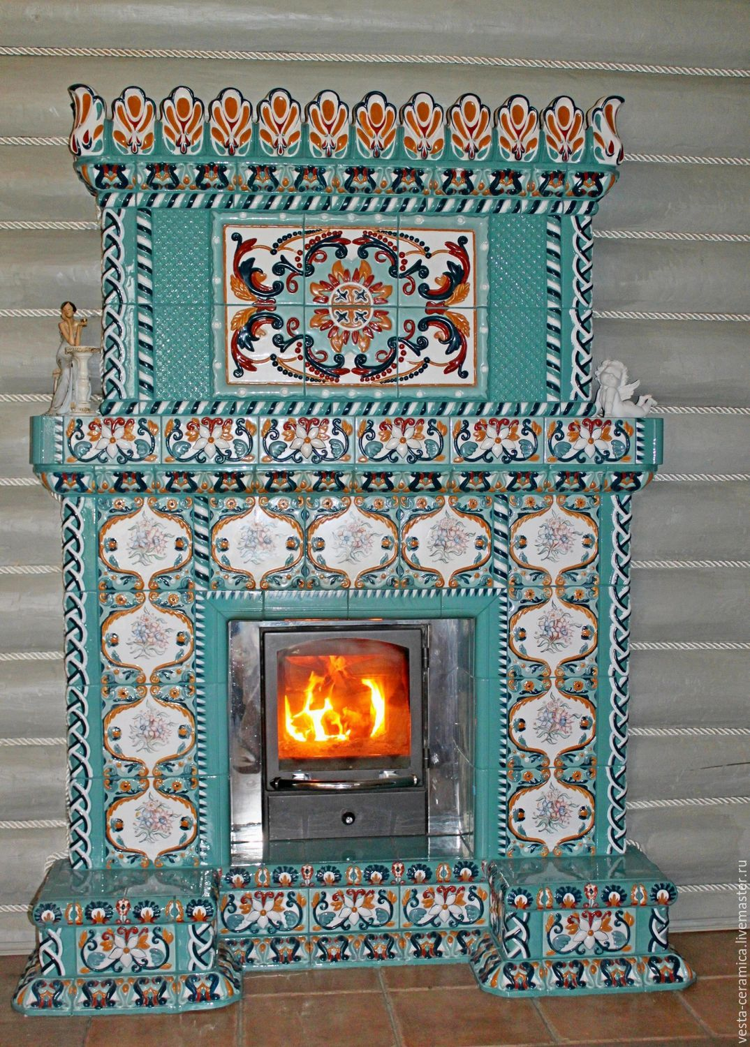 'Turquoise' fireplace, Fireplaces, Moscow,  Фото №1