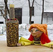 """Посуда ручной работы. Ярмарка Мастеров - ручная работа Бутылка-штоф """"Масленичка"""". Handmade."""