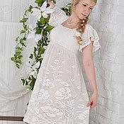 """Одежда ручной работы. Ярмарка Мастеров - ручная работа """"Леля"""" вязаное крючком кружевное  платье в деревенском стиле. Handmade."""
