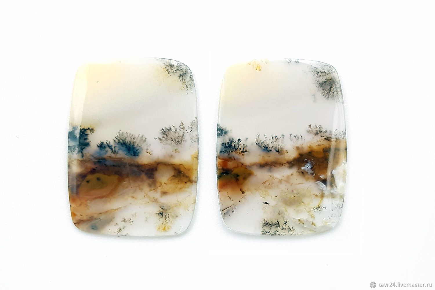 Set of moss agate cabochons No. 2-15, Cabochons, St. Petersburg,  Фото №1