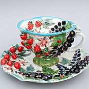 Посуда handmade. Livemaster - original item teacups: Berries. Handmade.